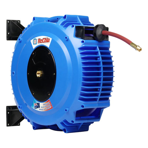 8MM AIR/WATER HOSE REEL AUTO REWIND, CAP 8MM X 20M, 240 PSI