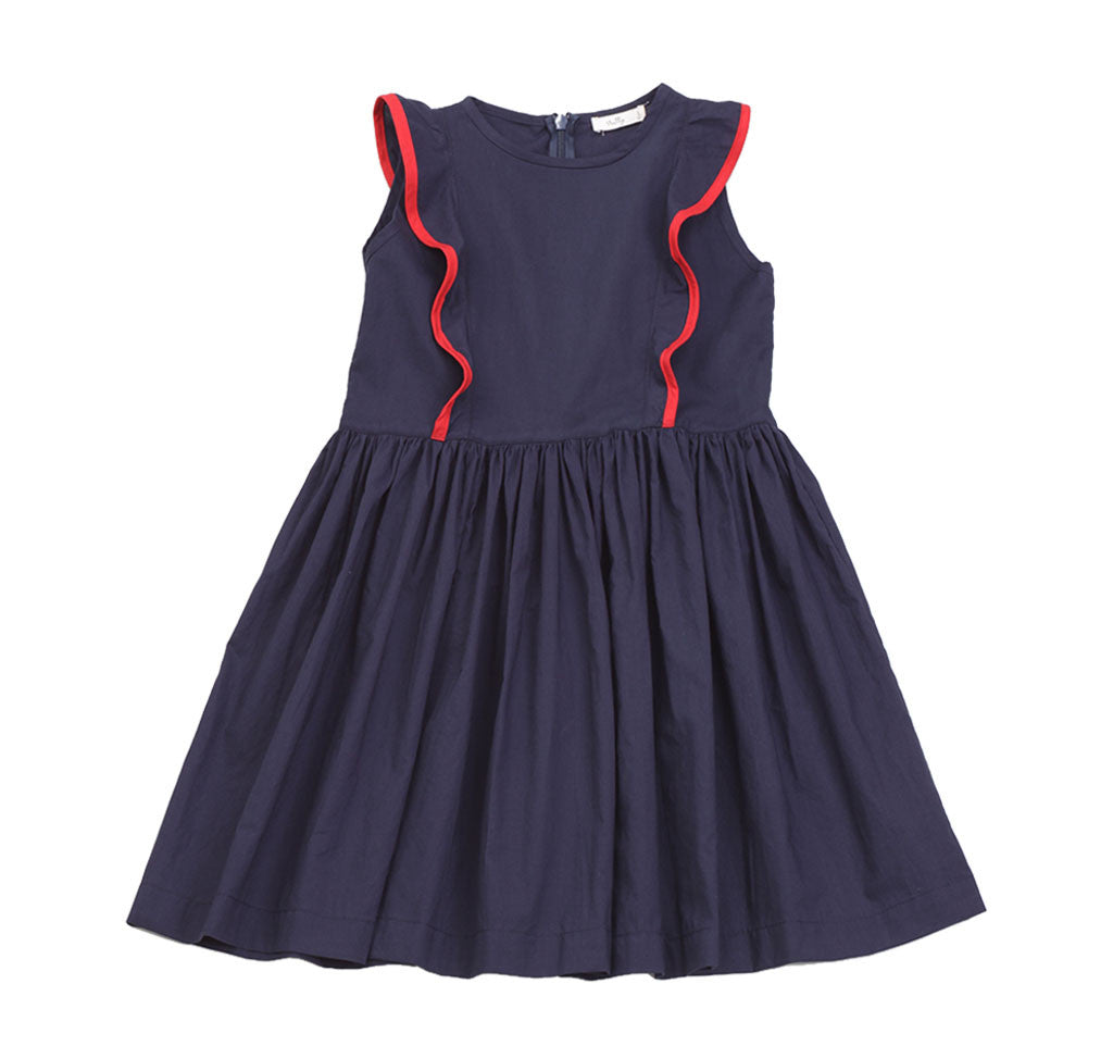 Pinafore Dress in Navy