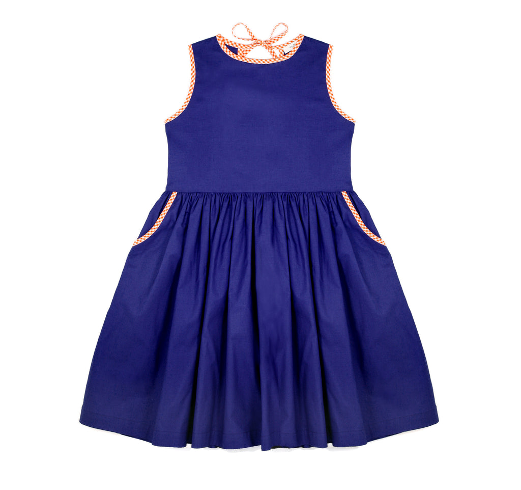 Tie Dress in Royal