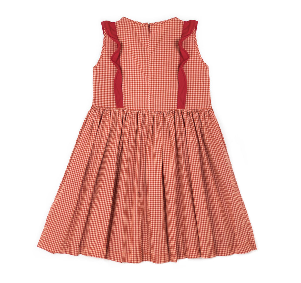 Pinafore Dress in Red Gingham
