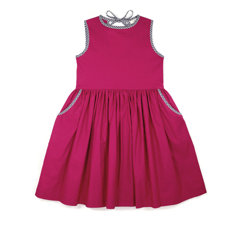 Tie Dress in Fucshia