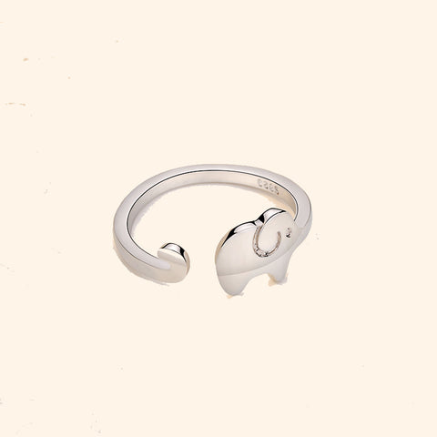 elephant ring silver