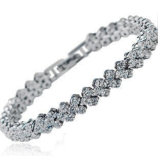 S925 Sterling Silver Diamante Bracelet