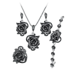 Grey Diamond Jewellery Set
