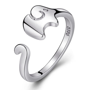 925 Cute Silver Dumbo Ring