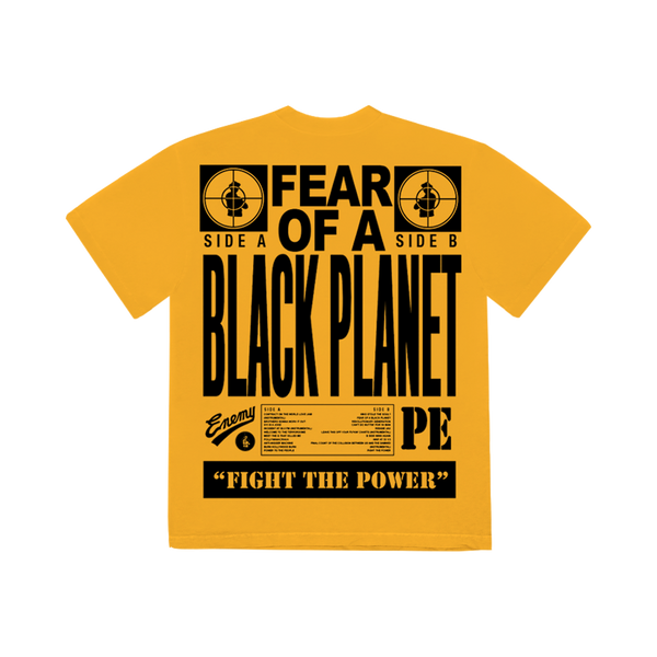 T-shirt | T-shirt Jaune Or 'Fear of a Black Planet' Public Enemy