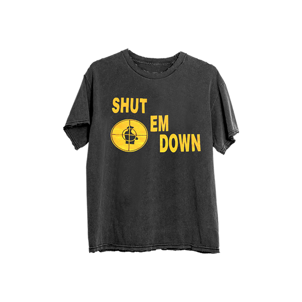 "T-shirt | T-shirt Gris ""Shut Em Down"" Public Enemy"