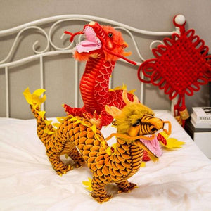 Peluche dragon chinois