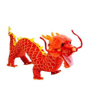 Peluche dragon chinois rouge