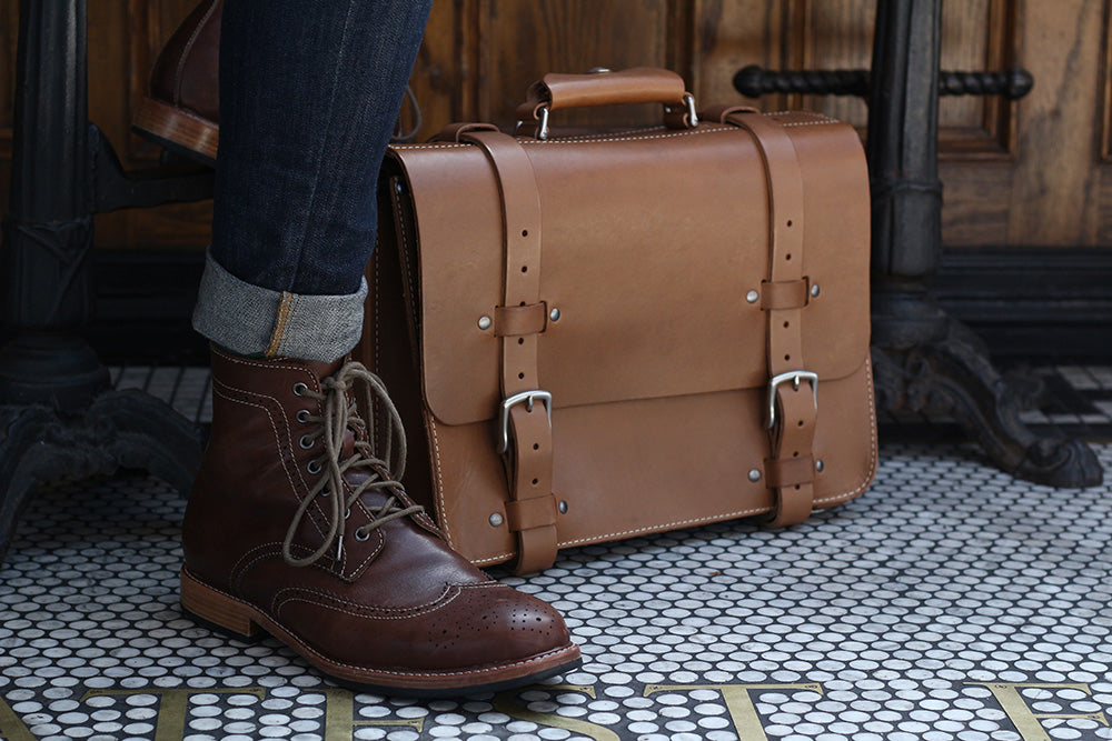 Picture of boots and bag