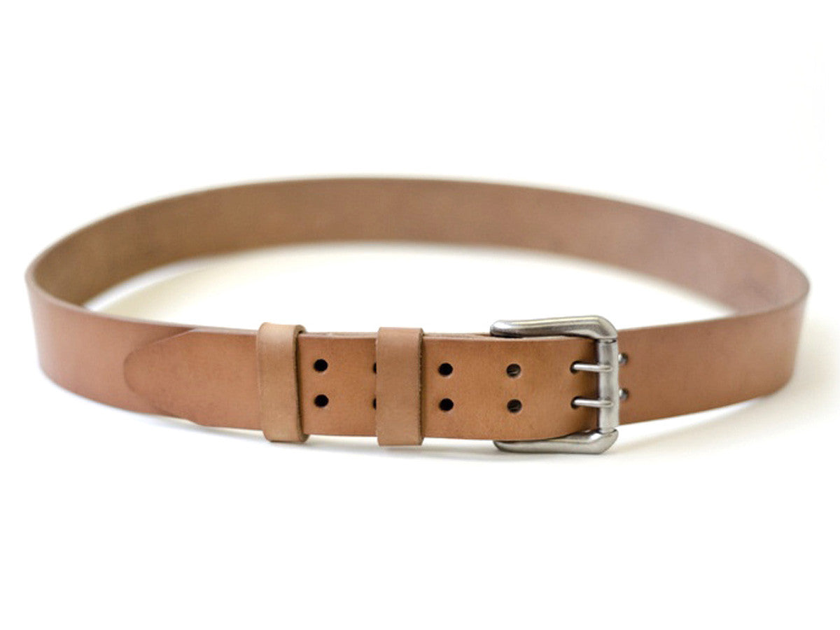 Two Hole Style 10 oz vegetable-tanned leather belt