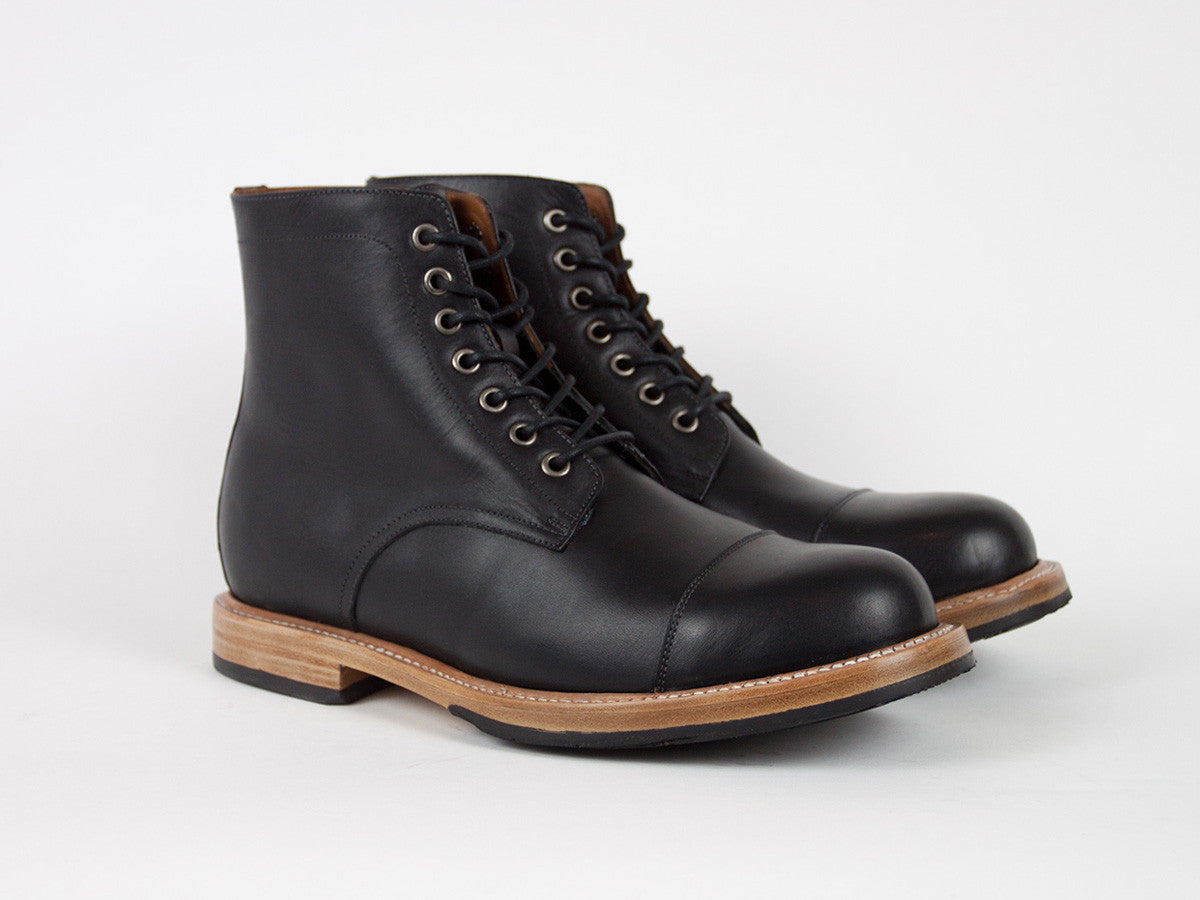 Goodyear Welted Captoe - Black
