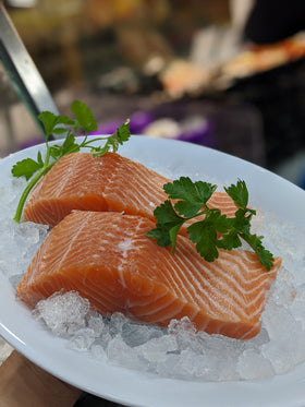Atlantic Salmon fillets (skin on) Sashimi grade