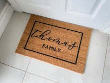 Load image into Gallery viewer, Bordered Elegance Family Name Mat
