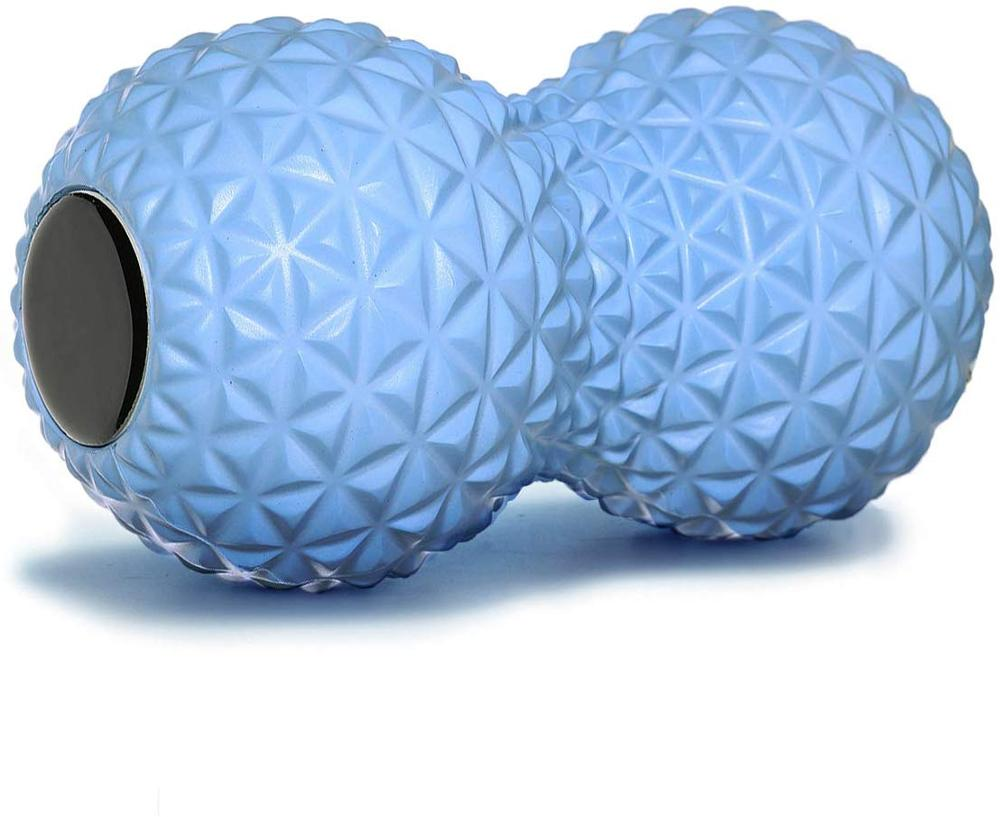 Fitness Peanut Massage Ball Roller Double Lacrosse Ball Deep Tissue Foam Massager for Hand, feet, Back, Muscle Relaxation