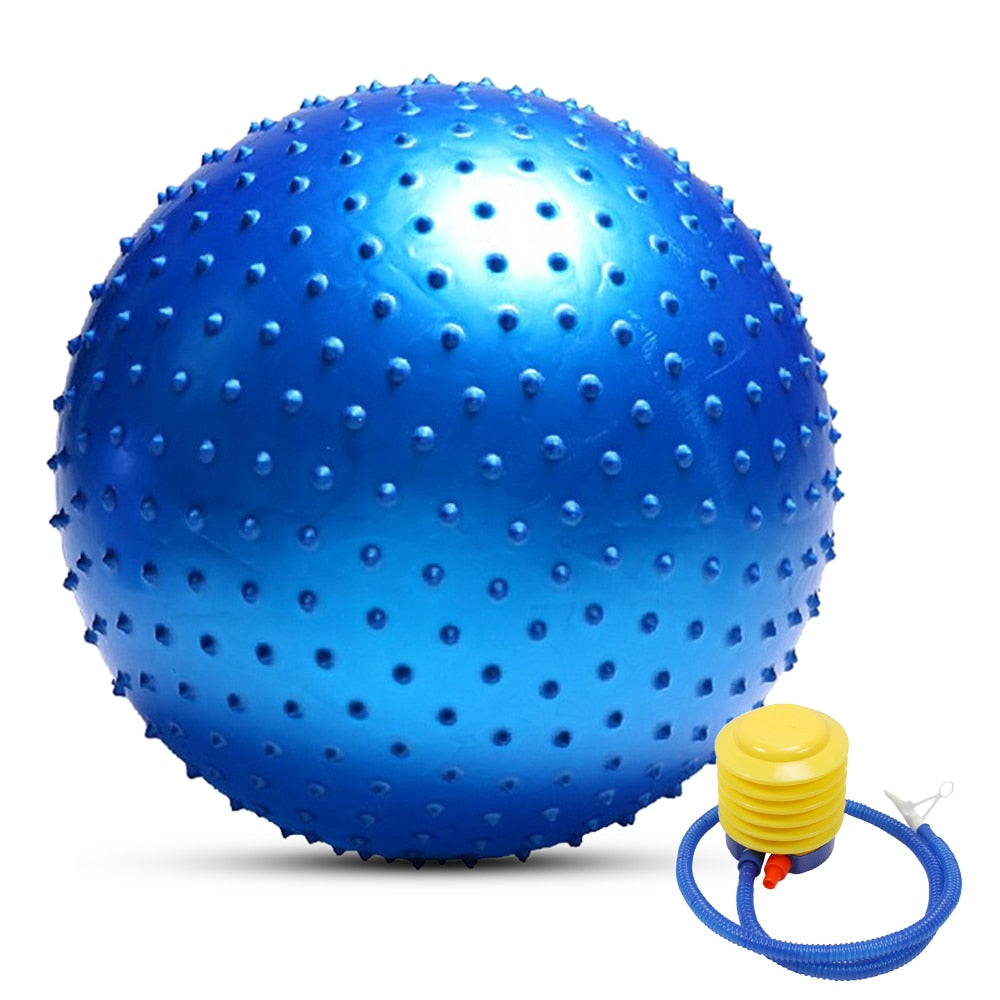 55CM / 65CM / 75CM Anti-burst Yoga Ball Thickened Stability Balance Ball Pilates Physical Fitness Exercise Ball Gift Air Pump