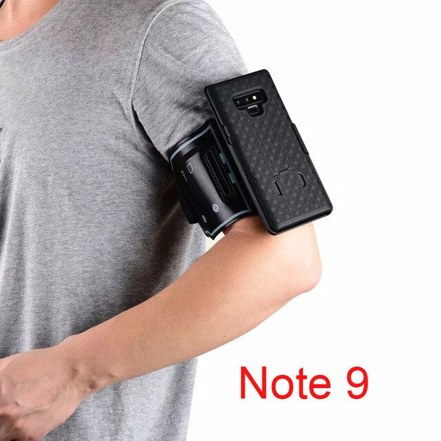 Sport Arm Band Wristband Case for Samsung Galaxy S10 5g S10+ Plus S10E Note 8 9 10+ Cover Gym Running Phone Holder Armband Case