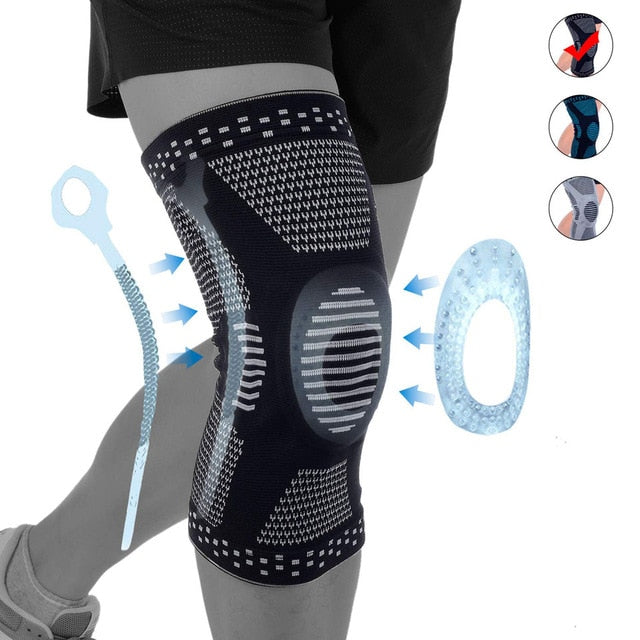1Pcs Knee Braces For Arthritis Relief Joint Pain Meniscus Tear Post Surgery Squat Knee Fitness Protector Support Health Care
