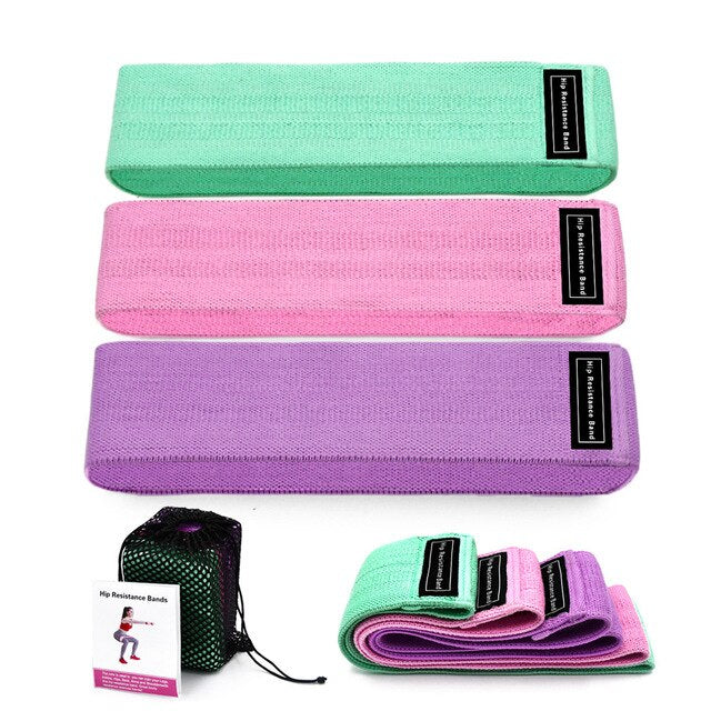 3 Piece Fitness Hip Trainer Yoga Resistance Bands Expander Training Pull Rope For Sports Pilates Hip Belt Loop Squat belt