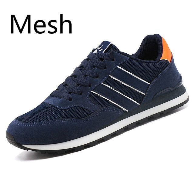 Men Casual Shoes Light Suede Leather Sneakers Classical Running Shoes Men Comfort Outdoor Breathable Flats Jogging Sport Shoes