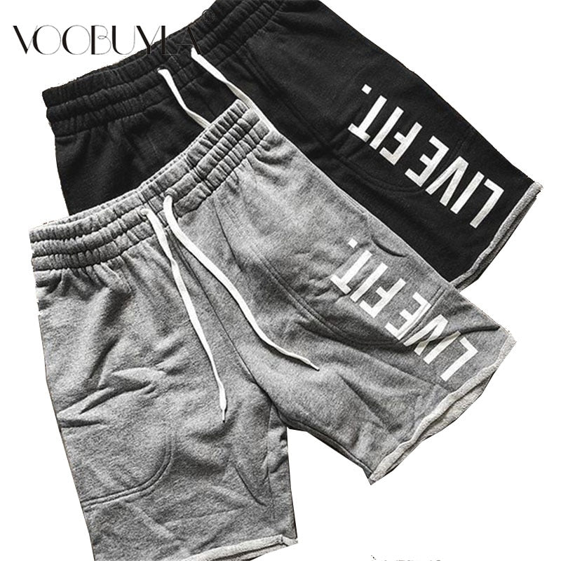 Voobuyla Men Sports Running Shorts Pants Quick Dry Breathable Running Workout Bodybuilding Cotton Tennis Gym Training Short 3XL