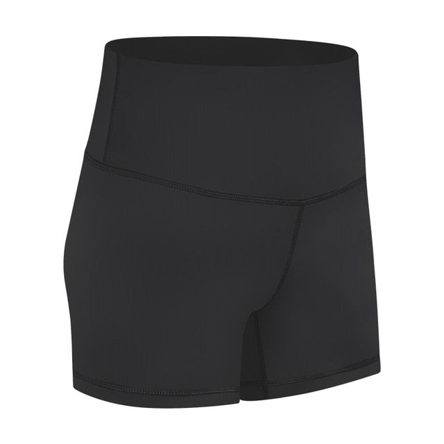 NWT Women's Sports Yoga Shorts Anti-sweat Plain Sport Athletic Shorts Women High Waisted Soft Cotton Feel Fitness Yoga Shorts