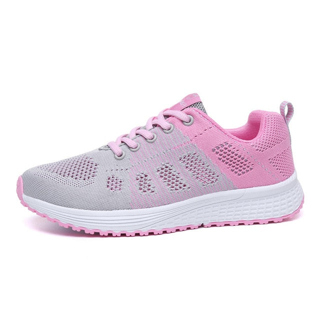 ZHENZU Women's Sport Shoes Female Brand Sneakers Woman Running Shoes Breathable Antislip Light Flats Eur 35-42
