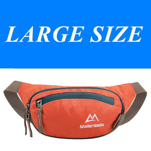 Maleroads Waterproof Running Waist Bags Utility Fanny Pack Ultralight Sport Cycling Belt Money Cell Phone Pocket For Men Women
