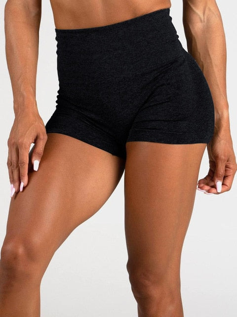 Women High Waist Energy Seamless Yoga Shorts Push Up Hip Gym Shorts Fitness Scrunch Butt Workout Tummy Control Sports Leggings