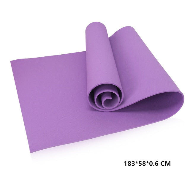 EVA Yoga Mat 6MM Thick Non-slip Fitness Pad For Yoga Exercise Pilates Meditation Gym Extra Thicken Exercise Durable Workout Mat
