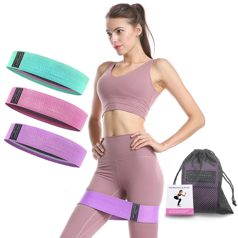3 pcs fabric resistance bands booty band set gym equipment workout elastic elast glute band for yoga sports fitness hip training