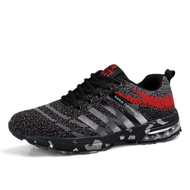 Men Running Shoes Breathable Outdoor Sports Shoes Lightweight Sneakers for Women Comfortable Couple Cushion Flats Training