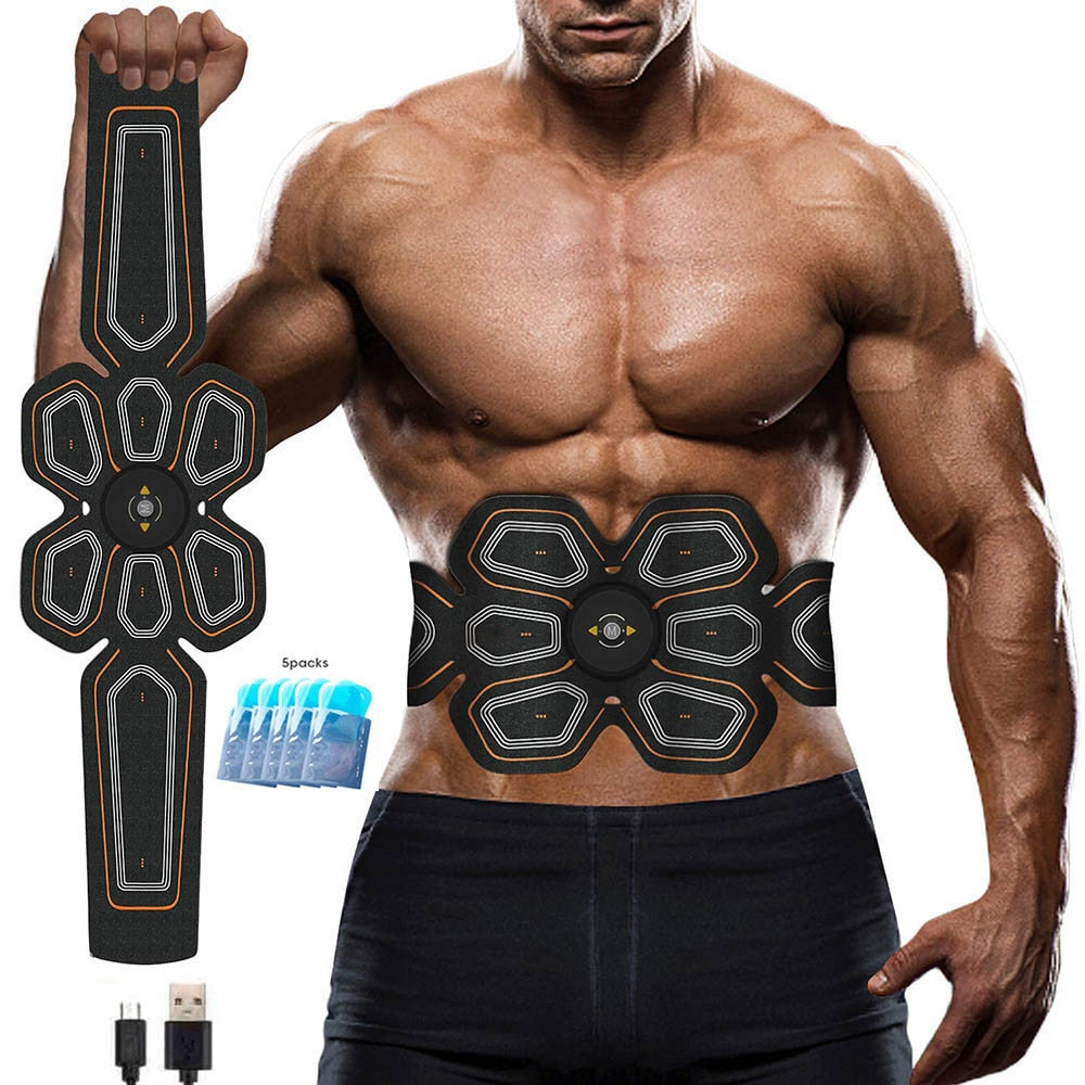 Abs Stimulator Muscle Toner EMS Press Trainer Abdomen Electrostimulation USB Charged Fitness Home Workout Muscle Toning Belt