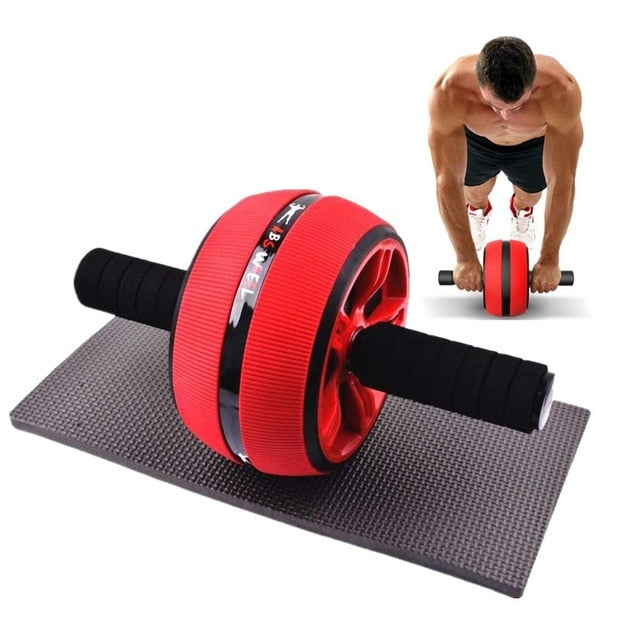 Abdominal Wheel Roller Core Training Roller Abdominal Workout Equipment Men Body Building Exercise Fitness Gym  with Knee Pad