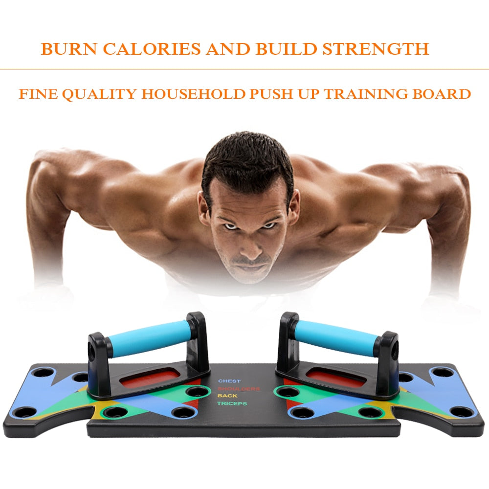 1 Set Push Up Rack Board 9 in 1 Body Building Fitness Exercise Tool Men Women Push-Ups Stand For GYM Body Training Drop Shipping