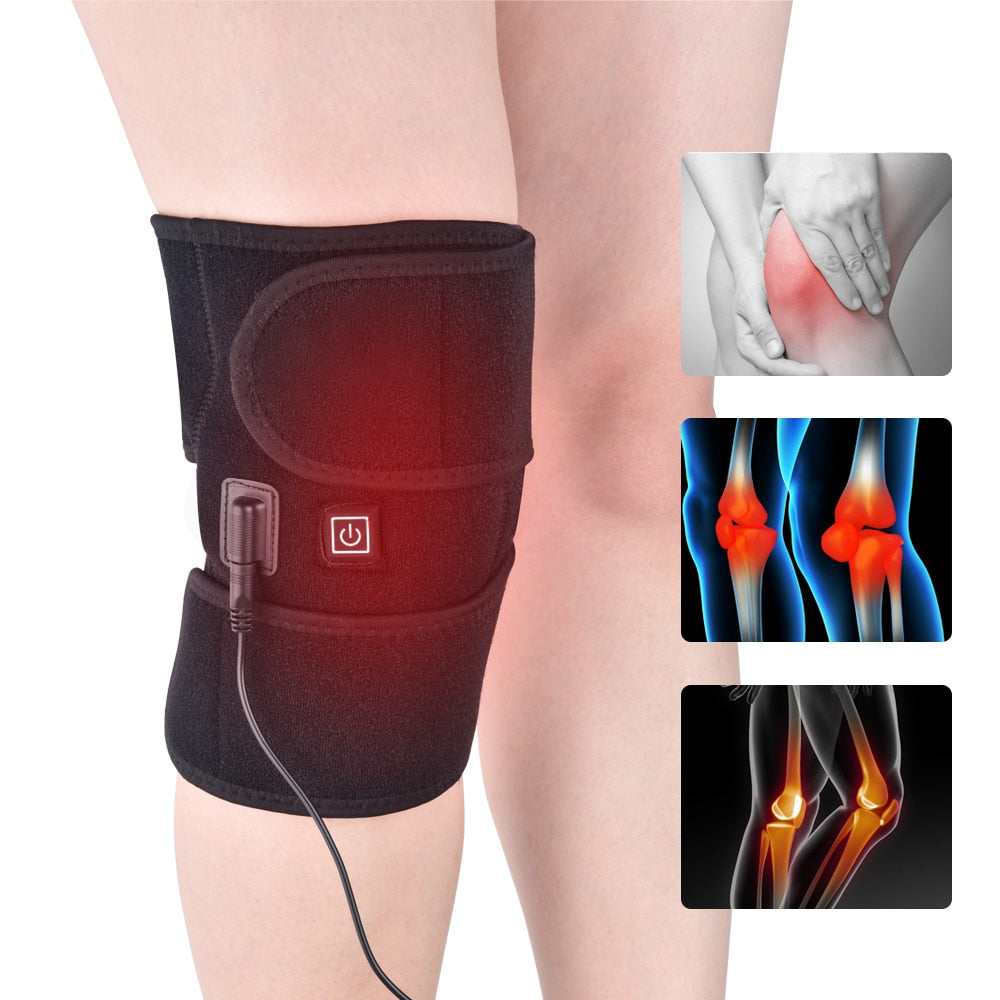 Heating Knee Pads Knee Brace Support Pads Thermal Heat Therapy Wrap Hot Compress Knee Massager for Cramps Arthritis Pain Relief