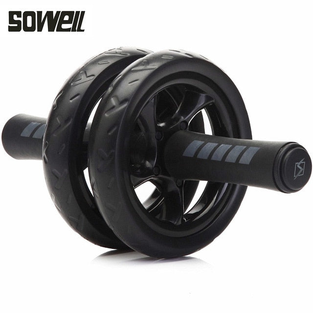 2019 Ab Roller Gym Roller Trainer Training Muscle Exercise Equipment Home Fitness Equipment Double Wheel Abdominal Power Wheel