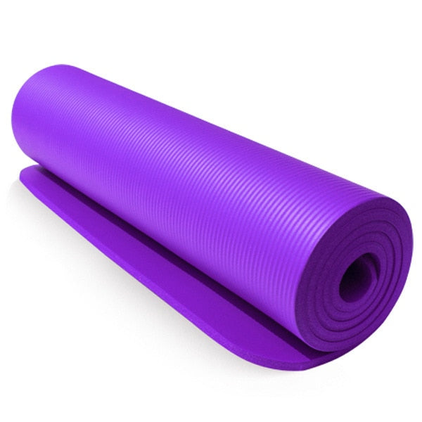 10mm Yoga Mat Exercise Pad Thick Non Slip Folding Gym Fitness Mat Pilates Outdoor Indoor Training Gym Exercise Fitness Carpet