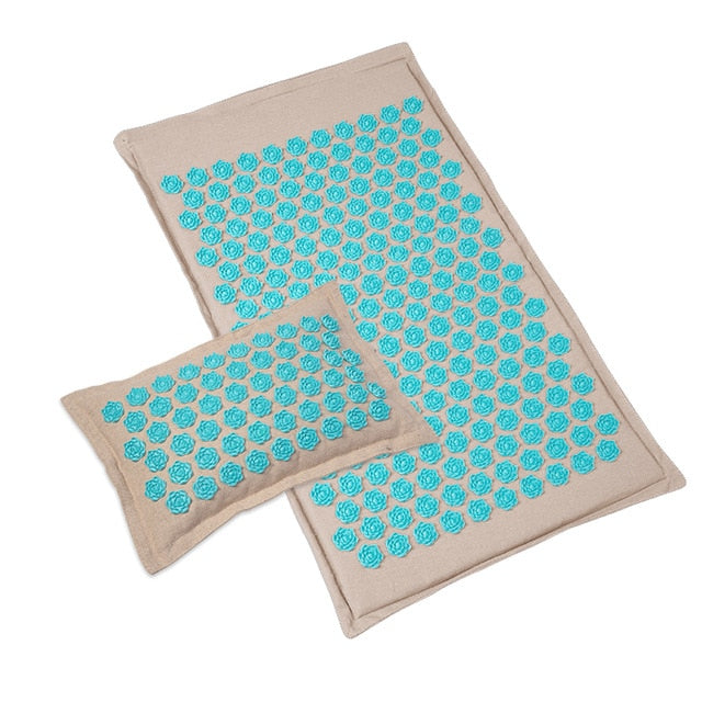 Lotus Spike Acupressure Mat massage mat Yoga mats pillow with bag Acupuncture Pillow