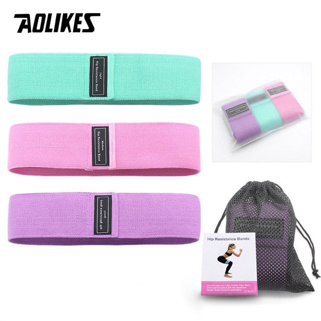 AOLIKES 3PCS/Lot Fitness Rubber Bads Resistance Bands Expander Rubber Bands For Fitness Elastic Band For Fitness Band Training