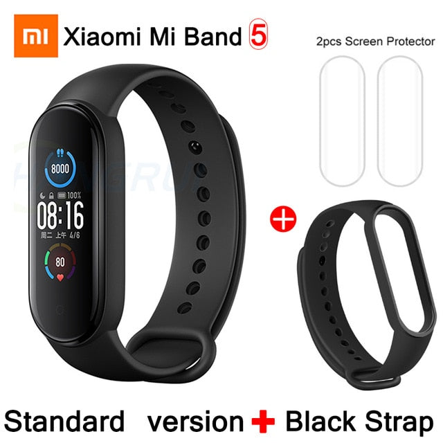 Original Xiaomi Mi Band 5 4 Smart Wristband Color AMOLED Screen Mi Band 5 Bluetooth Tracker Heart Rate Fitness Music Bracelet