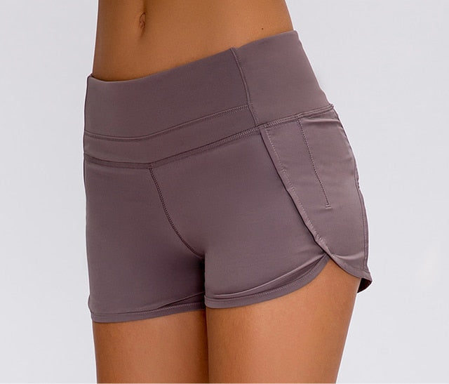 NWT Women Yoga Professional Sports shorts running short quick dry exercise workout training Shorts Free shipping
