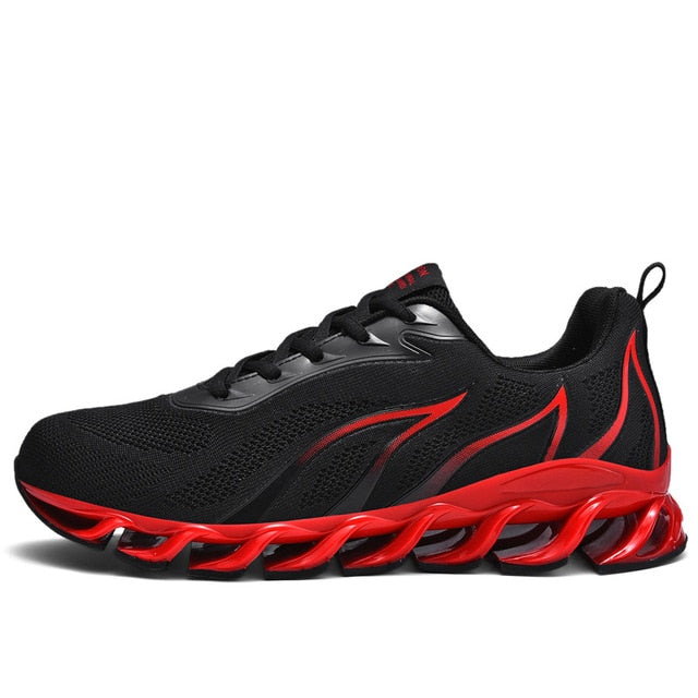 SENTA New Blade Running Shoes for Men Antiskid Damping Cool Outsole Walking Trekking Leisure Summer Running Zapatills Sneakers