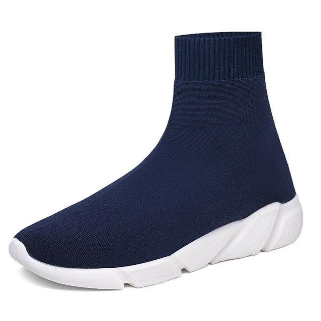 Socks Sneakers Women Men Knit Upper Breathable Sport Shoes Sock Boots Woman Chunky Shoes High Top Running Shoes For Men Women