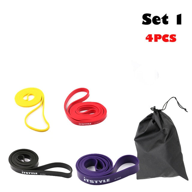 208cm Resistance Bands Rubber Pull Up Strengthen Muscles Loop Band Fitness Power Expander  41""