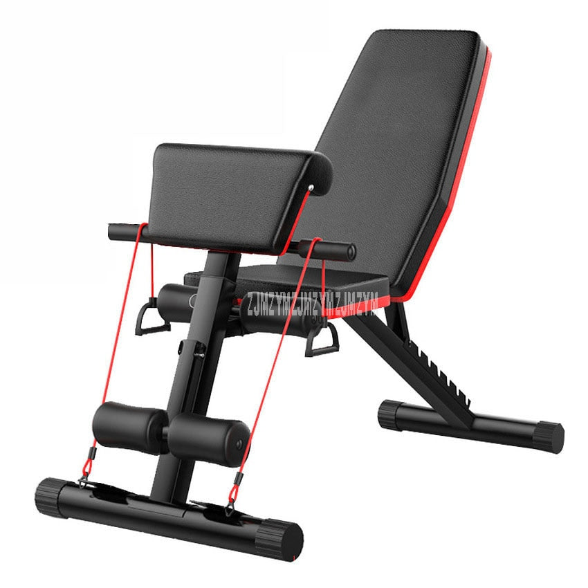 New Multifunctional Foldable Dumbbell Bench 7 Gear Backrest Sit Up AB Abdominal Fitness Bench Weight Training Equipment Rollers
