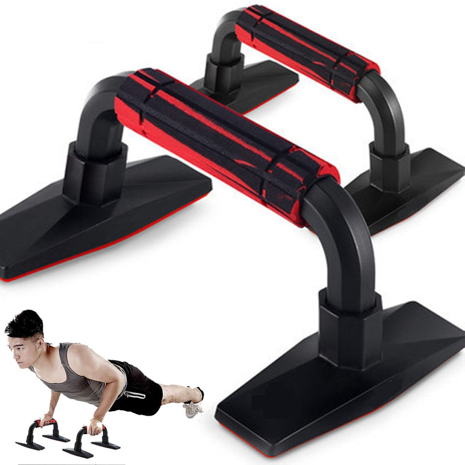 Push-Ups Stands Classic Delicate Gym Sports Fitness Equipments H-shape Push Up Bar Hand Grip Muscle Training Device