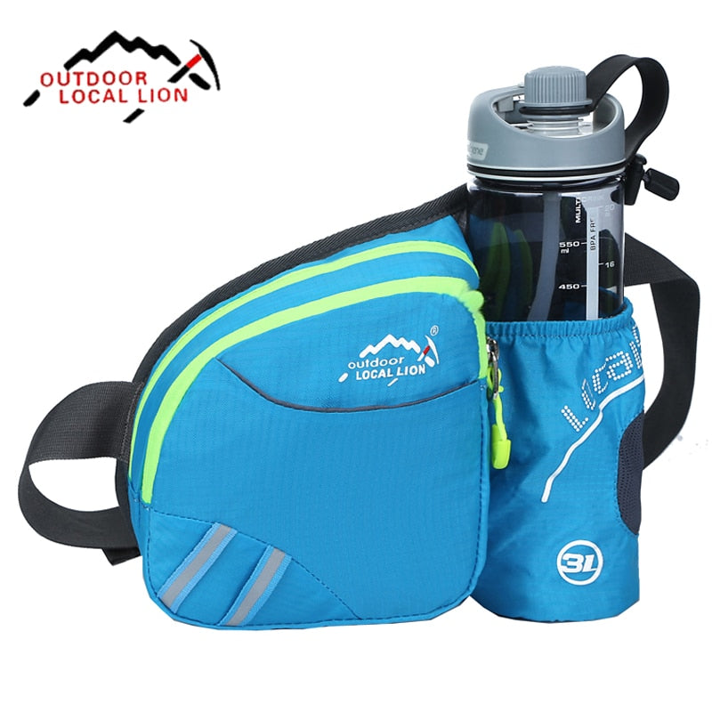 Men Women Running Waist Bag Pack Outdoor Sports Fitness Jogging Running Cycling Belt Bags with Water Bottles Holder