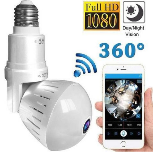 360 Degree WiFi Light Bulb Security Camera