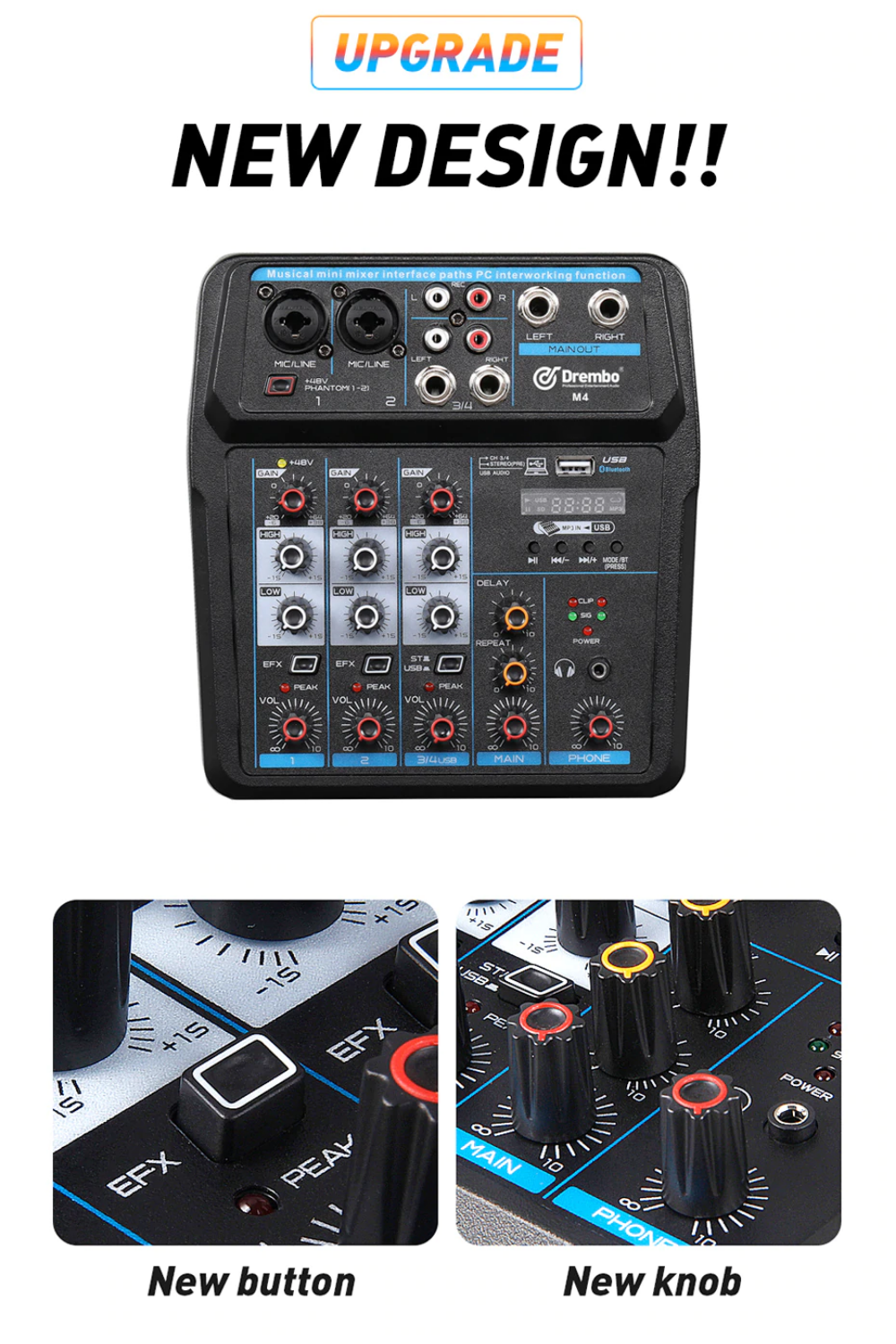 6 channel mixer with effects